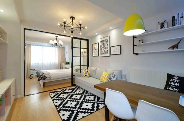 60平米旧房改造装修效果图:客厅