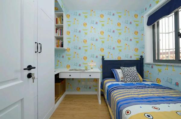 60平米旧房改造装修效果图:次卧