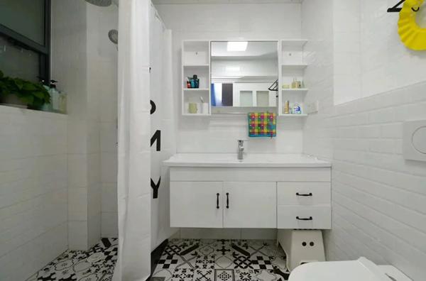 60平米旧房改造装修效果图:卫生间